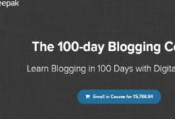 Digital Deepak – The 100-day Blogging Course Free Download –