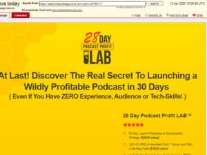 Jamie Atkinson – 28 Day Podcast Profit LAB Free