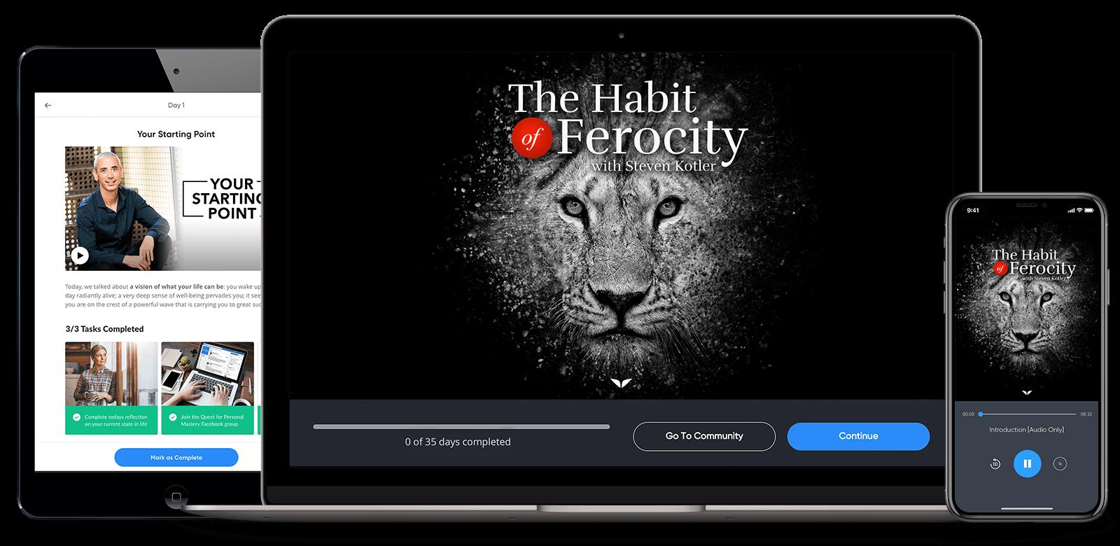 Mindvalley – Steven Kotler – The Habit of Ferocity Download