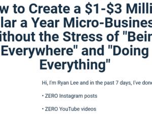 Ryan Lee – Micro-Business Workshop Download