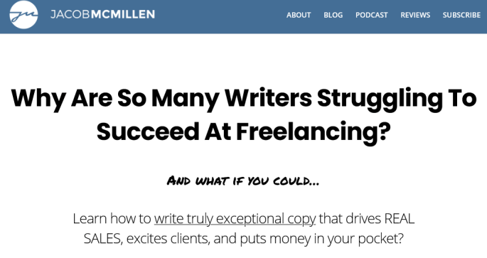 Jacob McMillen – The Internet's Best Copywriting Course Free Download